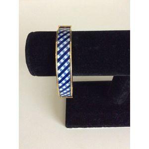 Talbots Gold Blue Magnetic Bangle Hinged Bracelet
